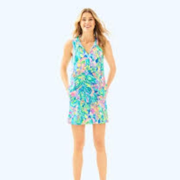 0bb0adbf4d Lilly Pulitzer Swim | Johana Cover Up Bennet Blue Medium | Poshmark